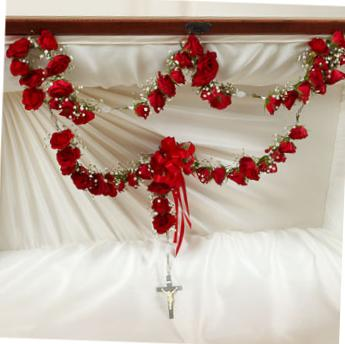 Red Rose Funeral Rosary