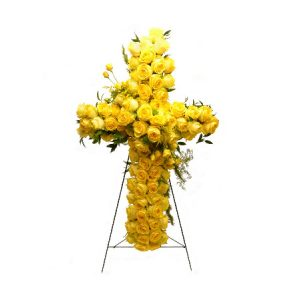 Yellow Funeral Cross